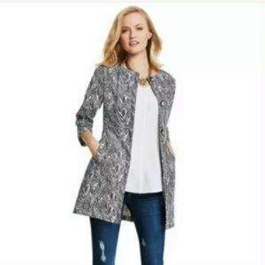 CAbi 3034 Zig Zag Knit Ponte Jacket size M